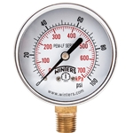 "Winters Lead Free 2.5"" Gauge' 0 to 160 PSI' 1/4"" Connect.' PEM215LF"