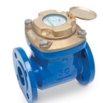"Zenner® 2"" Cast Iron Turbine Water Meter' Direct Read' Gallons"