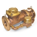 "Zenner Bronze Compound Meter' 6"" Flange' Cubic Feet' Direct Read"