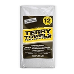 "16"" x 19"" Large Terry Cloth Cleaning Towels' 12/Pack"
