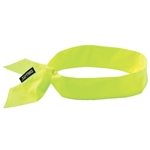 Ergodyne Chill-Its® Evaporative Cooling Bandana w/ Tie Closure' Hi-Vis Lime' 12301