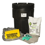 BlackDiamond 95-Gal Wheeled Poly-SpillPak Drum Spill Kit Universal Absorbs up to 25 Gal