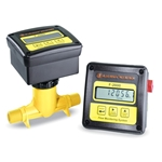 "Blue-White® DIGI-METER® F-2000 Flowmeter' 1"" PP Tee' 5-50 GPM' Sensor-Mount Display' Totalizer' RTS110M1GM1"