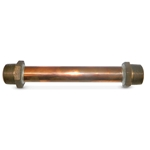 "A.Y. McDonald Meter Idler' 7-1/2"" Overall Length' 5/8 x 1/2"" Meter Inlet/Outlet' Wrought Copper' 740MJ05"