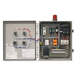 SJE Rhombus® Duplex Control Panel w/ Hour Meter & Failsafe Alarm' 3-Phase' 6.0 to 10.0 amps