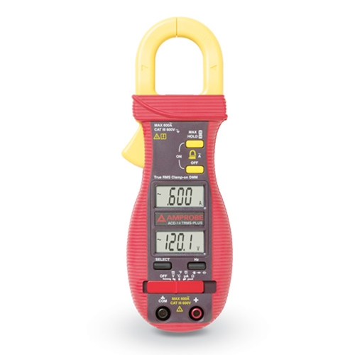 Amprobe Clamp-On True RMS 600A Multimeter W/ Dual Display