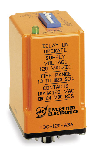 ATC Diversified Delay-On Operate Timer, 1.0-1023 Sec.