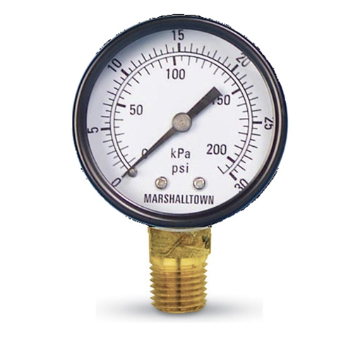 "Pressure Gauge-2"" Dial 30 PSI Imported"