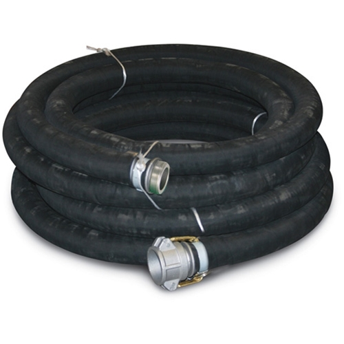 Rubber Suction Hose 3 x 20' 3 NPT(m) & Quick Alum (F)