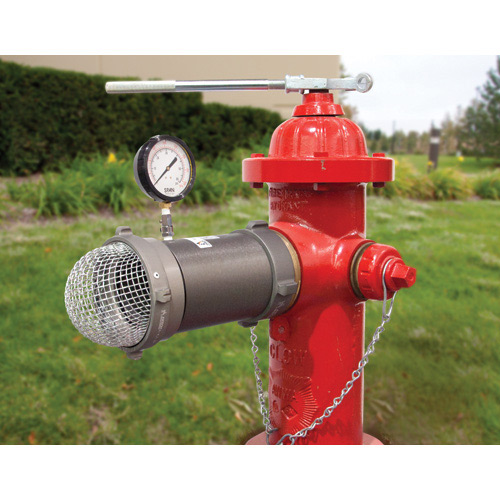 "Hydrant Flow Tester Diffuser 4""NST - 60 PSI Gauge with Case"