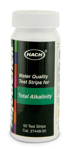 Hach Total Alkalinity Test Strips, 0-240 mg/L, 50/tests