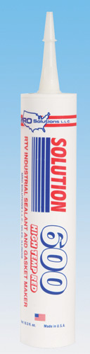 Solution 600 Hi-Temp RTV Silicone,Red,10.3oz Cartridge