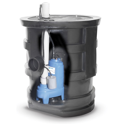 "Goulds Sewage Pump Package, 18"" Dia x 30""H Basin"