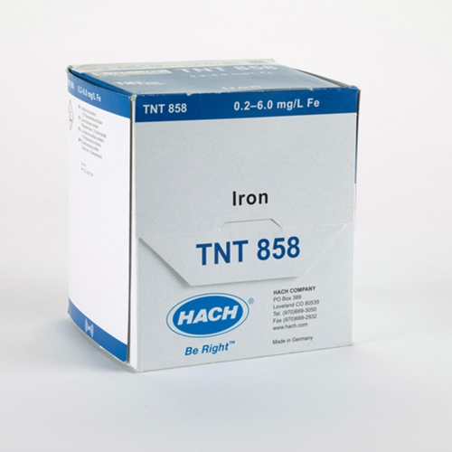 Hach TNTplus® Iron Reagent, 0.2 to 6.0 mg/L, 25 Tests, TNT858