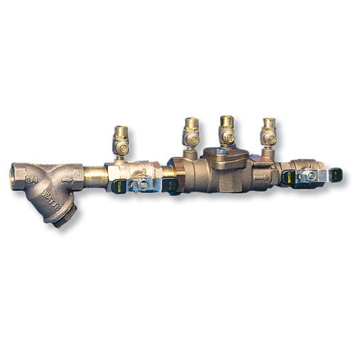 "Watts LF007 Double Check Backflow Preventer' 3/4""' with Strainer' 0122593"