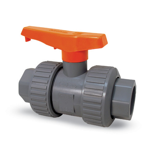 Chemtrol True Union Ball Valve 1 in SOC/THRD' PVC/FKM' MA930UA