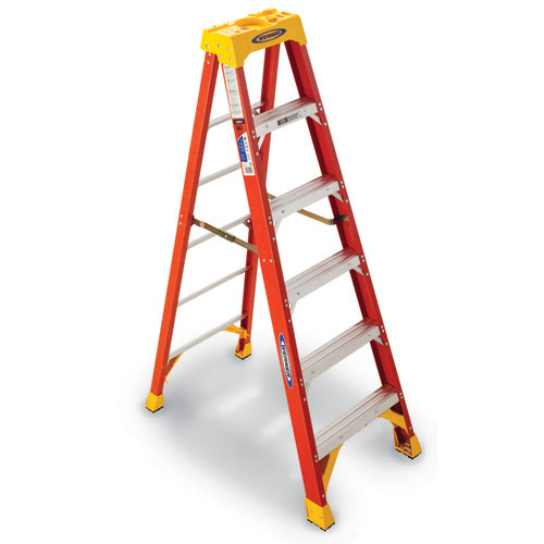 2' Fiberglass Folding Stepladder' 6202